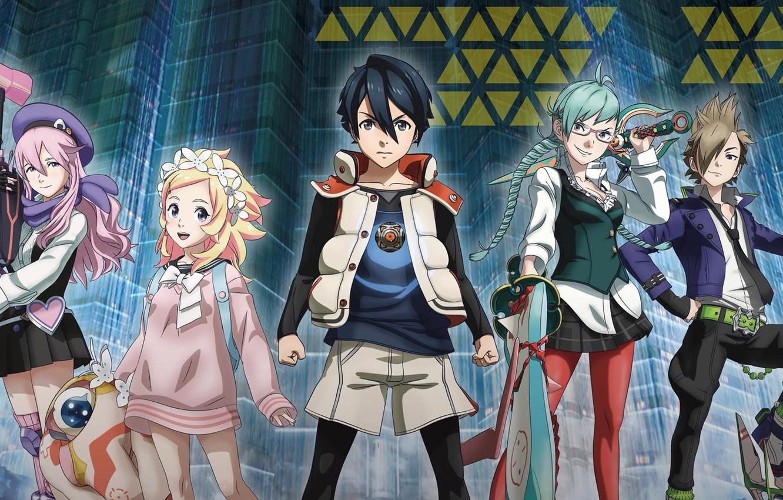 Wallpaper girl, sword, gun, weapon, anime, boy, ken, blade