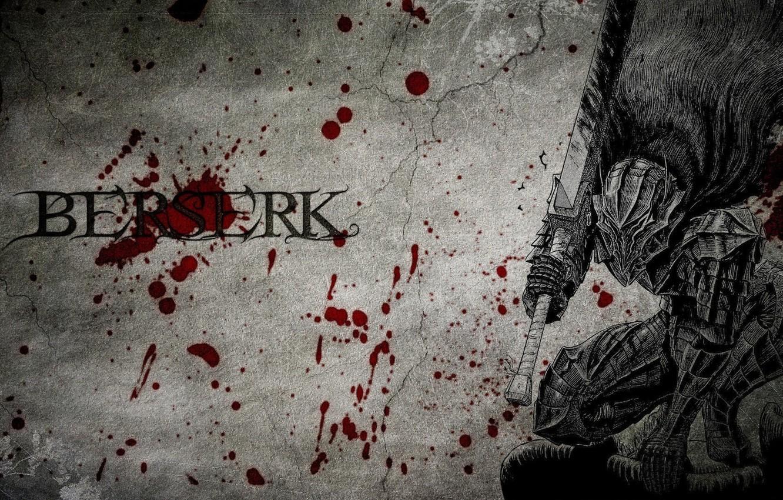 Photo wallpaper blood, monster, sword, spot, Berserk, Berserker, armor plate