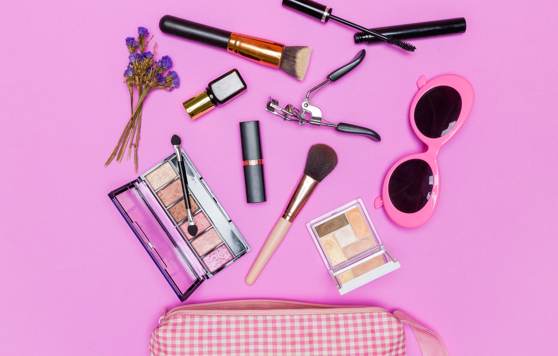 Photo wallpaper makeup, lipstick, glasses, shadows, Cosmetics