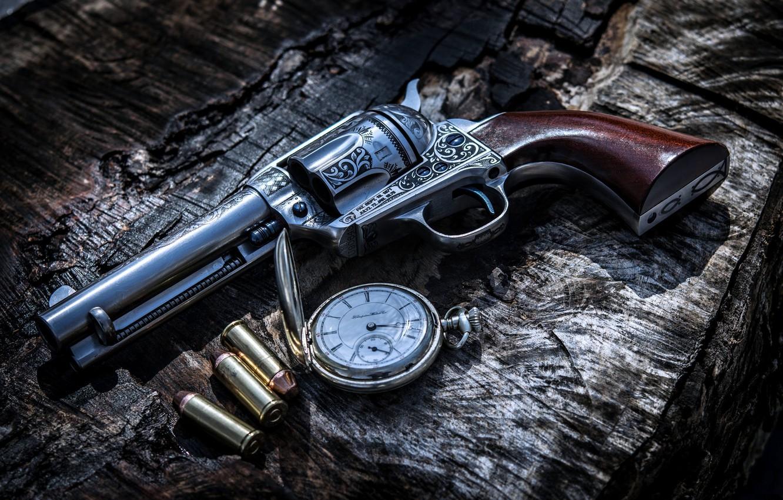 Wallpaper Gun, Bullets, Weapon, Clock images for desktop