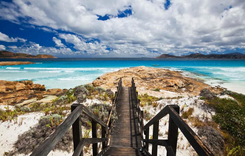 Photo wallpaper sea, shore, Australia, Cape Le Grand National Park, Lucky Bay