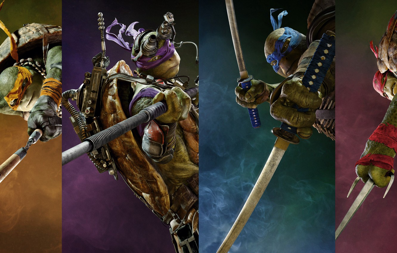 Wallpaper collage fantasy four poster Rafael TMNT Raphael