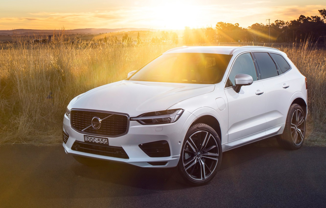 Photo wallpaper the sun, rays, sunset, 2018, Volvo XC60
