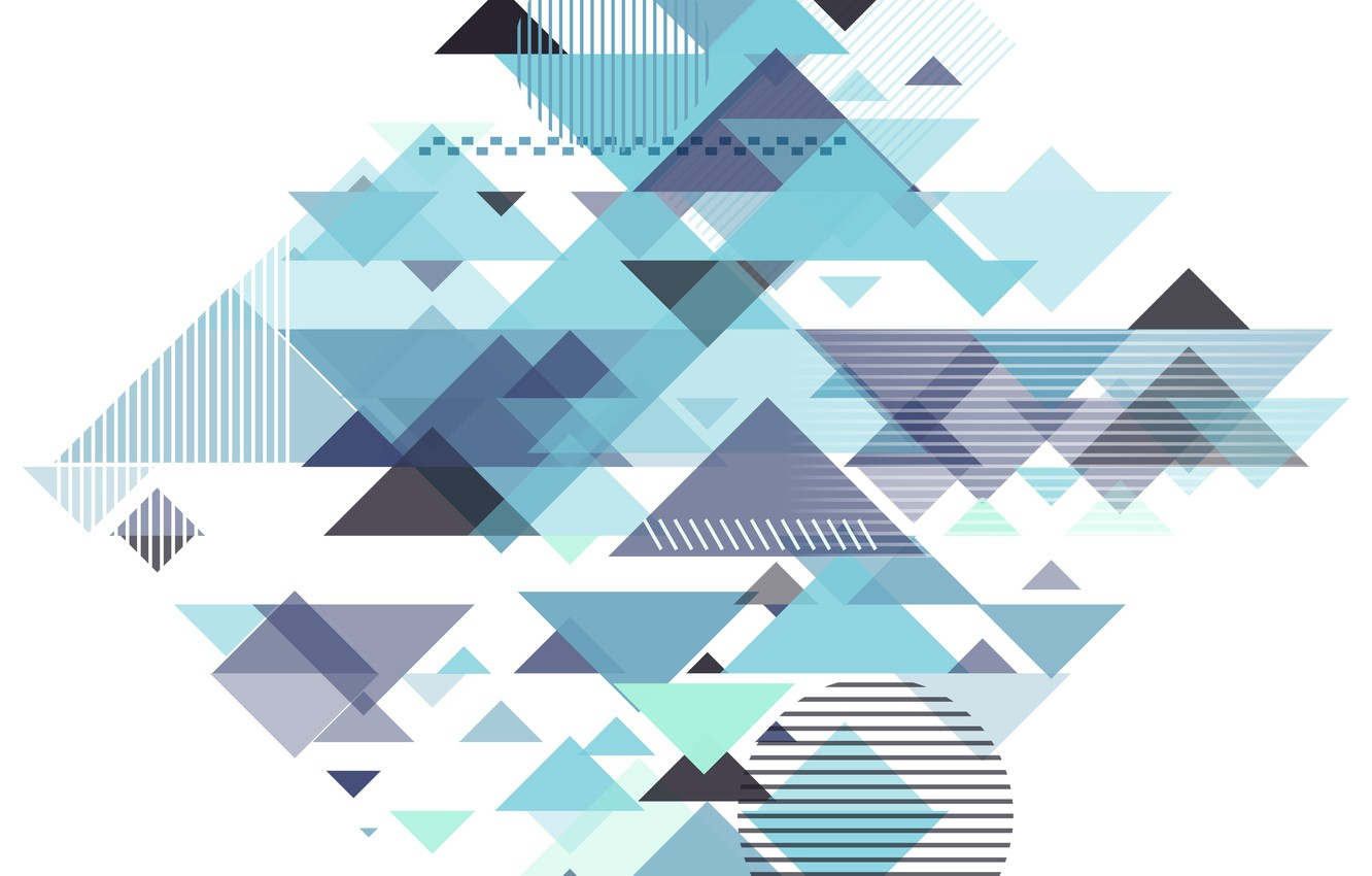 Photo wallpaper abstraction, blue, geometry, Abstract, design, with, background, triangle, geometric