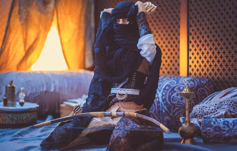 Photo wallpaper toy, doll, bow, East, Arabic motifs
