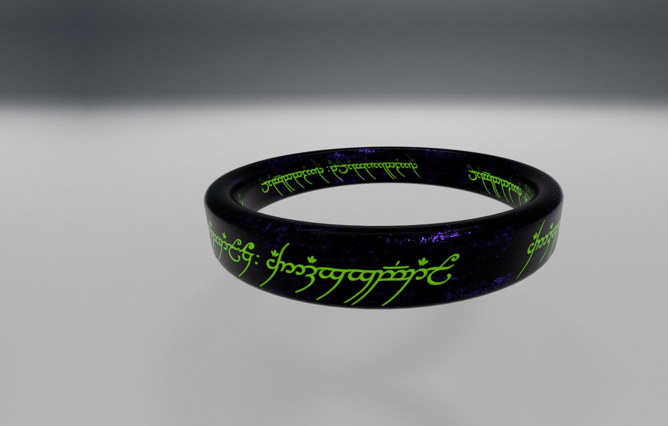 Photo wallpaper fantasy, ring, art, The inscription, The Lord of the Rings, The hobbit, The One Ring, …
