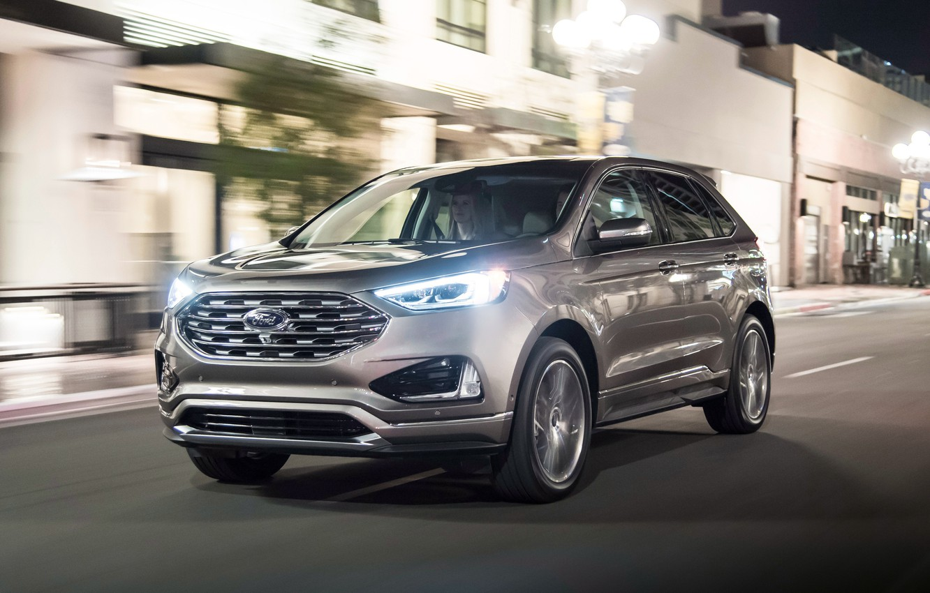 Photo wallpaper lights, Ford, Edge, crossover, Titanium, 2019, Elite Package