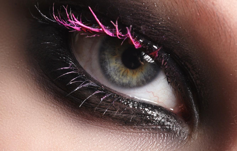Photo wallpaper eye, Look, make-up