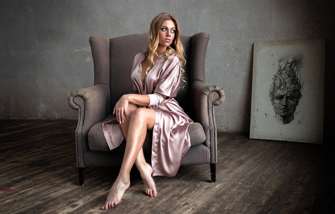 Photo wallpaper room, picture, chair, legs, Kate, Catherine Gutowska