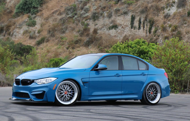 Photo wallpaper BMW, Blue, F80