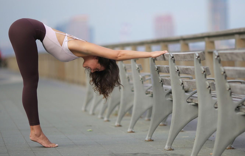Photo wallpaper girl, legs, charging, gymnast, exercise