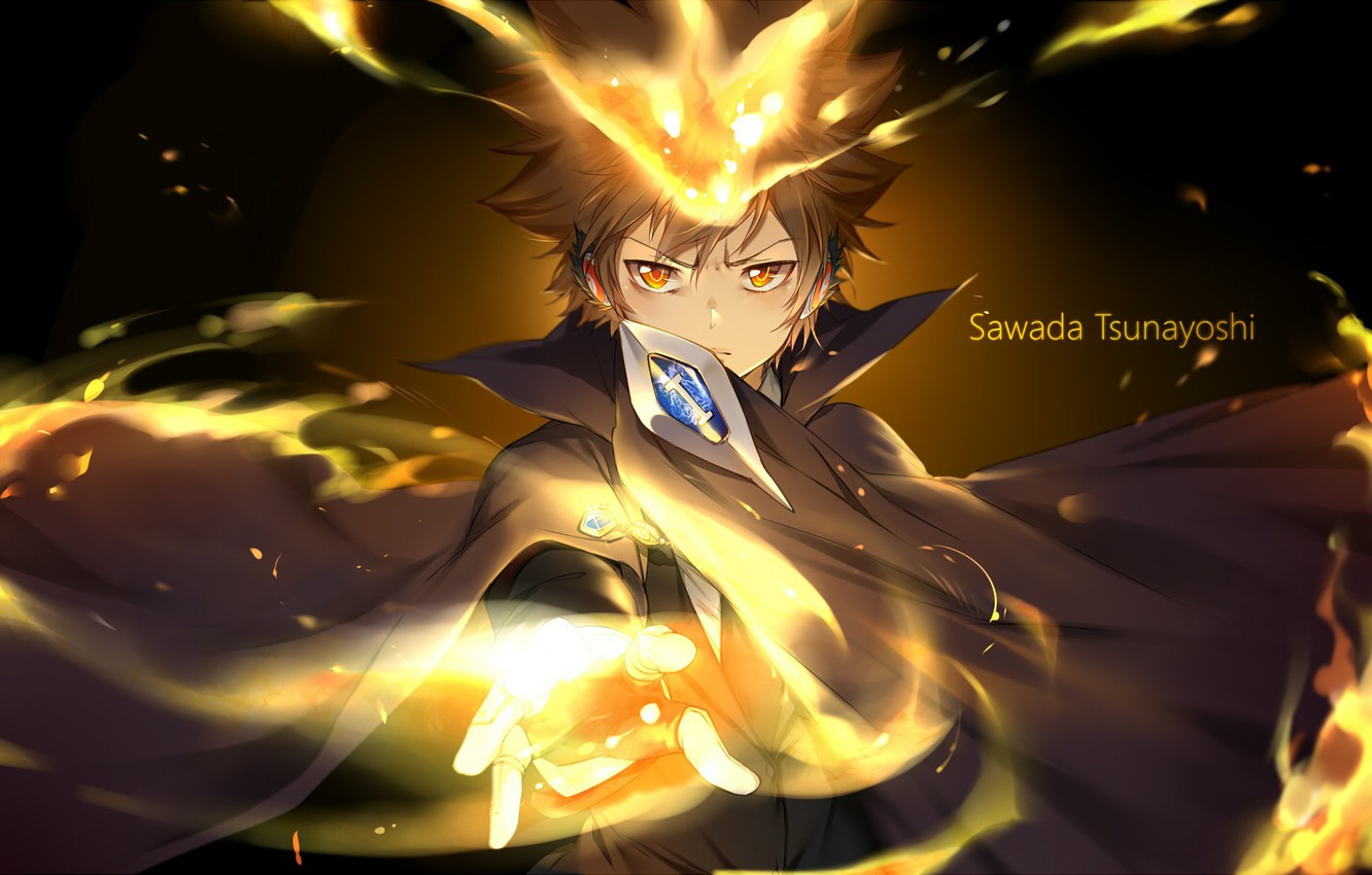 Wallpaper Game Anime Boss Mafia Asian Sawada Tsunayoshi