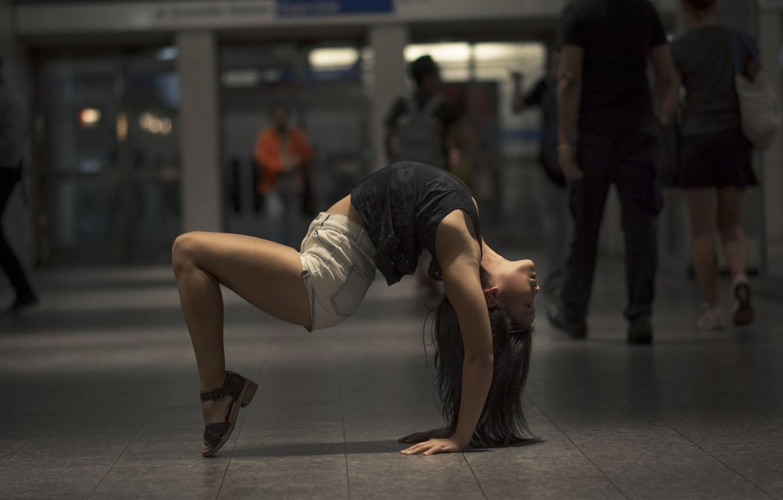 Photo wallpaper girl, pose, background, gymnastics, yoga