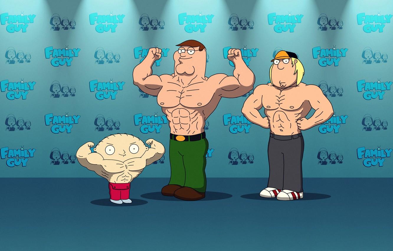 Photo wallpaper cartoon, Peter, Family, Chris, family guy, stewie, Stewie, familyguy, Chris Griffin, Peter Griffin