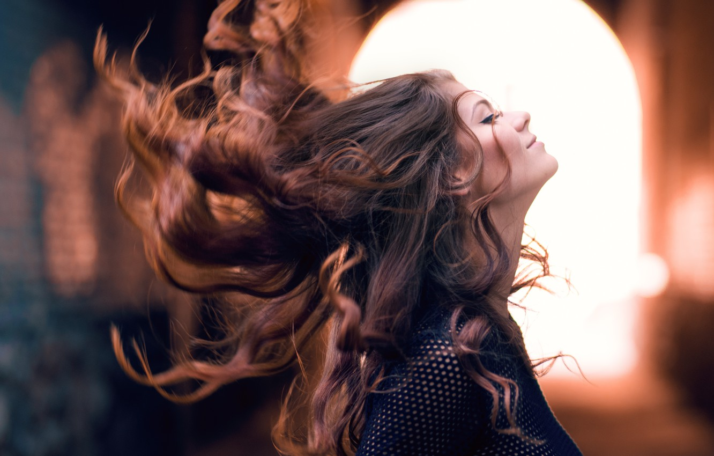 Wallpaper Girl Face Background Hair Profile Images For Desktop Section Devushki Download