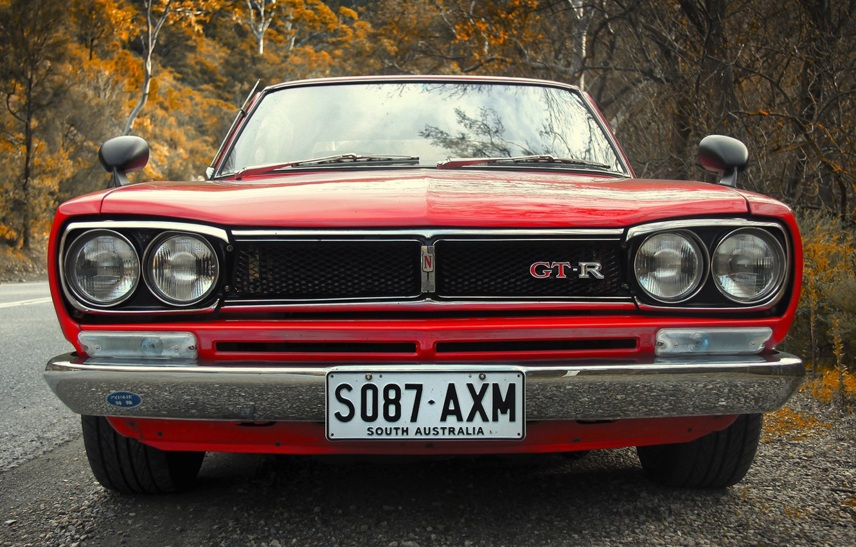 Photo wallpaper Auto, Machine, Logo, Nissan, Nissan, Lights, Car, 2000, Skyline, Nissan Skyline, South Australia, The front, …