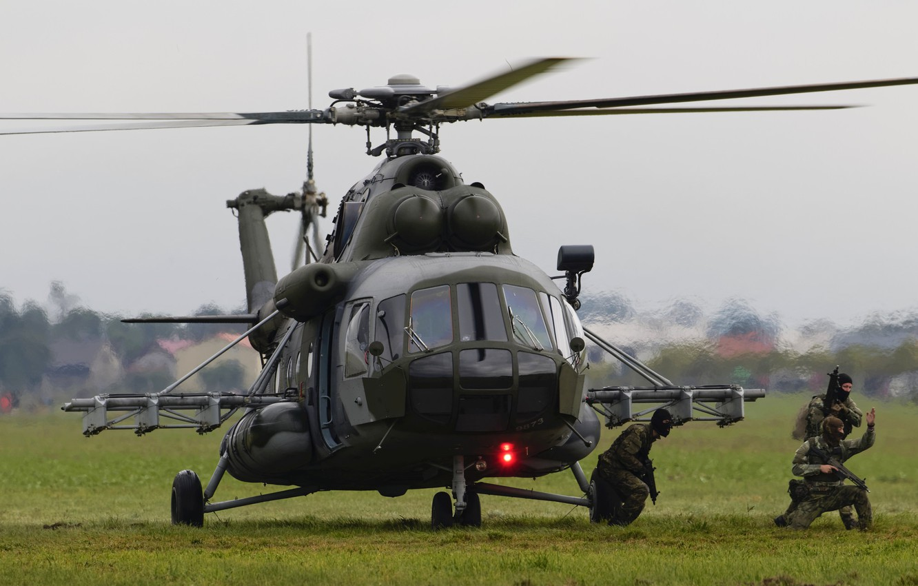 Photo wallpaper helicopter, landing, Mil Mi-171S