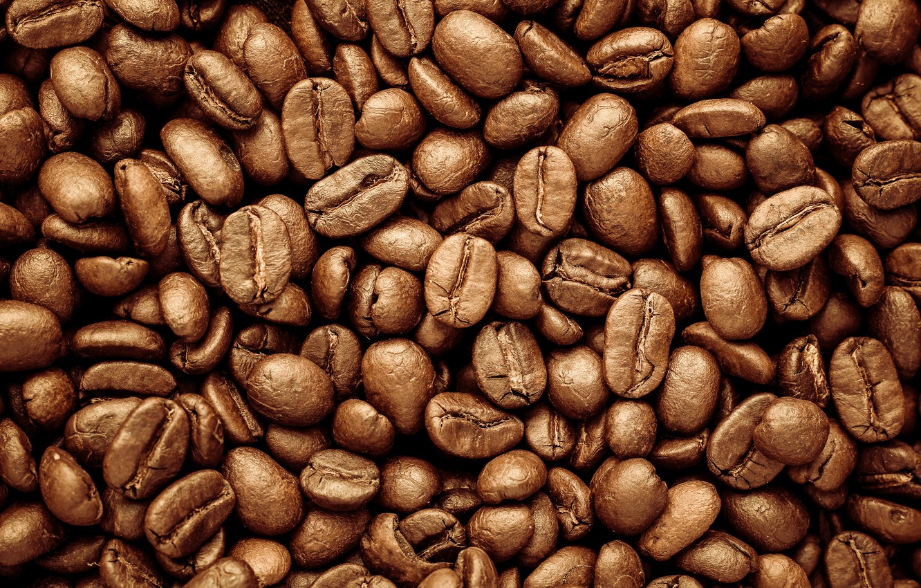Photo wallpaper background, coffee, grain, texture, background, beans, coffee, roasted