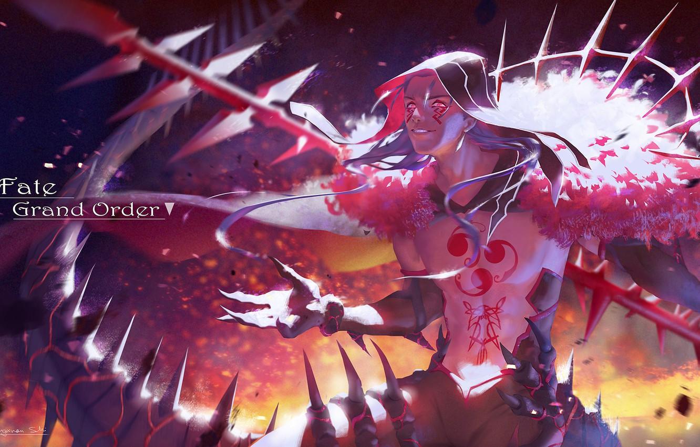Wallpaper Sexy Weapons Anime Art Guy Berserker Fate Grand