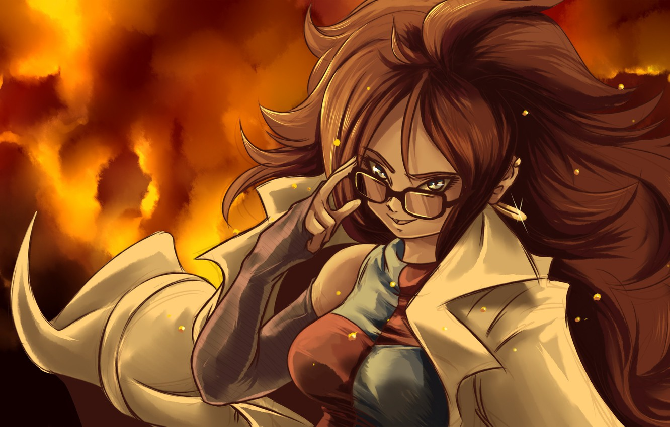 Photo wallpaper DBS, game, android, anime, pretty, asian, manga, Dragon Ball, Dragon Ball Super, japonese, Android 21