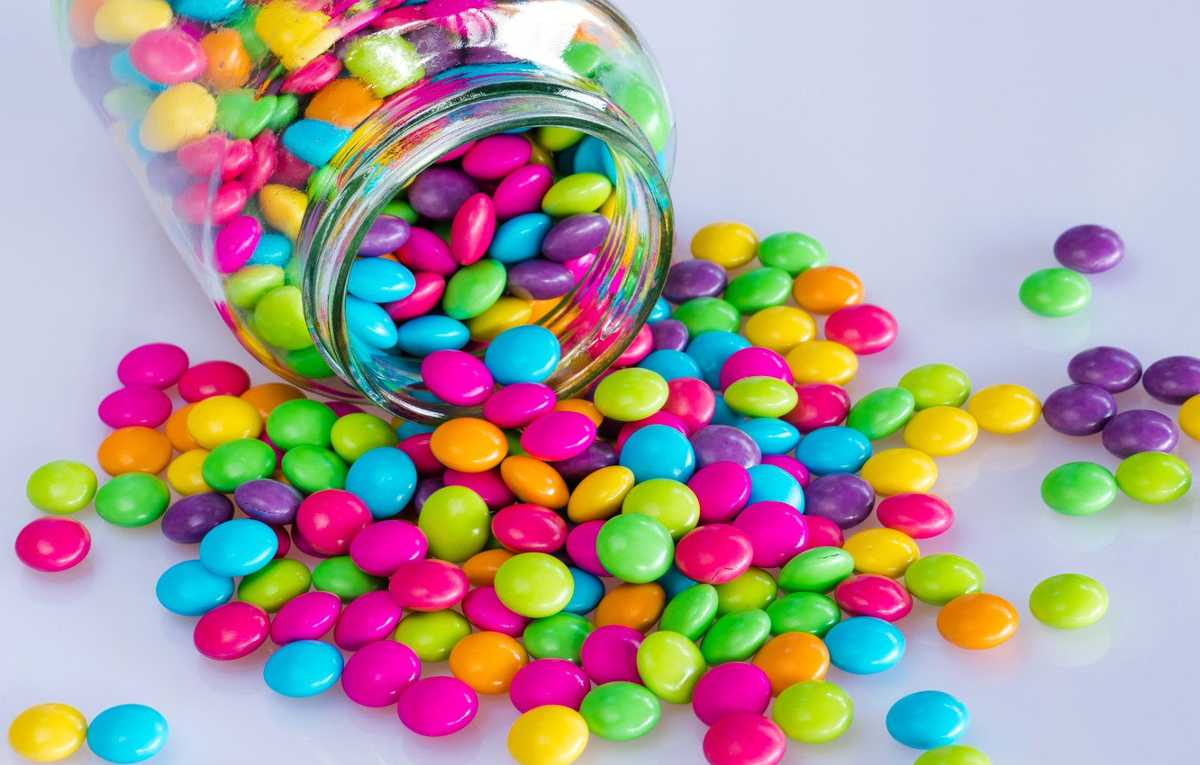 Photo wallpaper balls, background, colorful, candy, balls, background, sweet, pills, candy