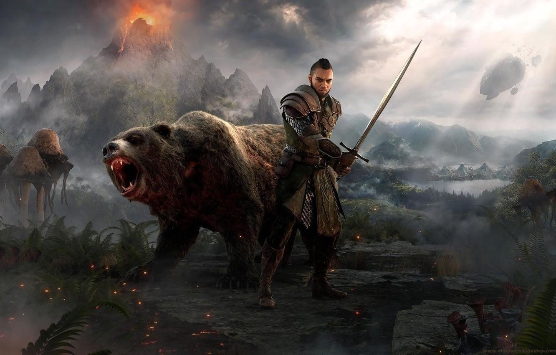 Wallpaper Sword Warrior Bear Mag Morrowind The Elder Scrolls