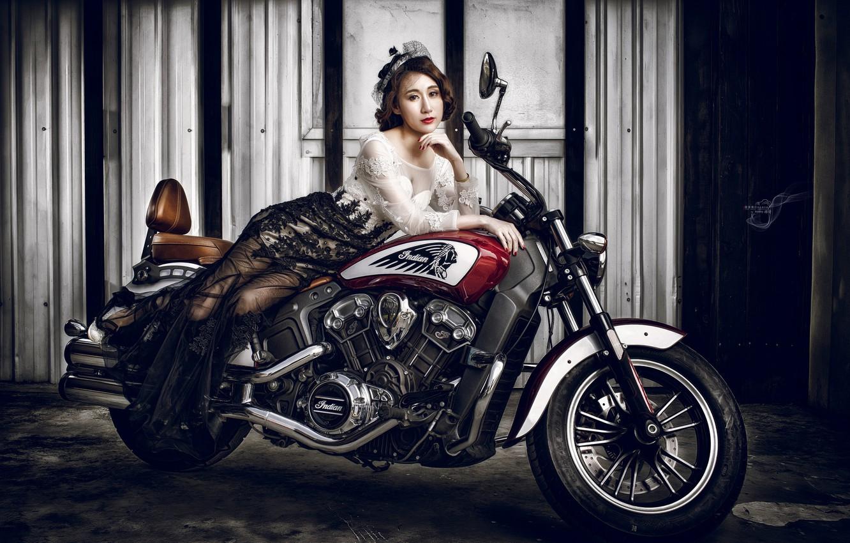Wallpaper Girl Background Motorcycle Images For Desktop