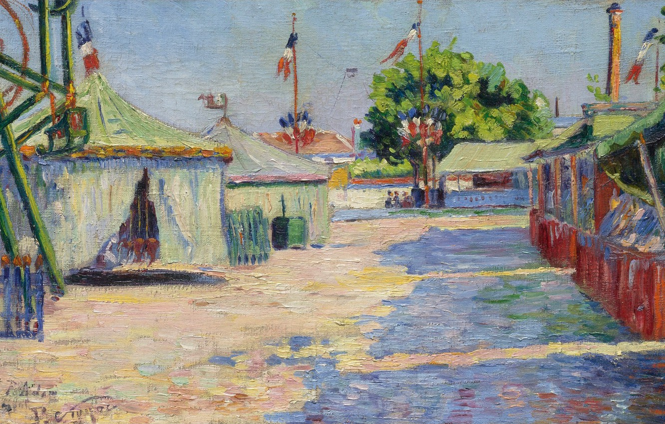 Photo wallpaper picture, genre, Paul Signac, Holiday in Anyer