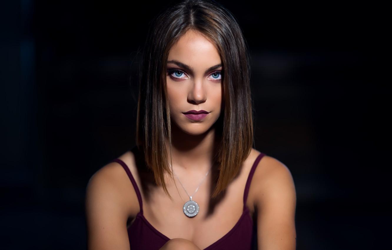 Photo wallpaper girl, portrait, Silvia