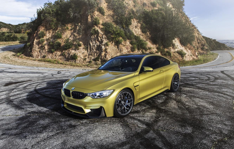 Photo wallpaper BMW, Yellow, F82