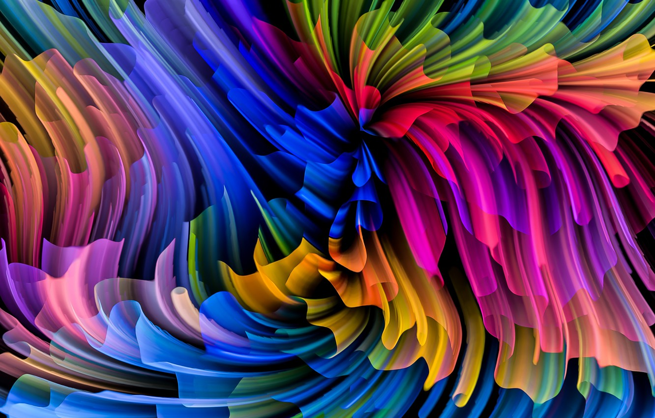 Photo wallpaper colors, colorful, abstract, rainbow, background, splash, painting