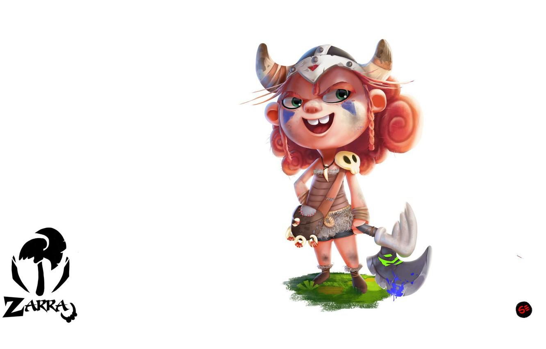 Photo wallpaper mood, art, girl, Viking, according to samson, Zarra