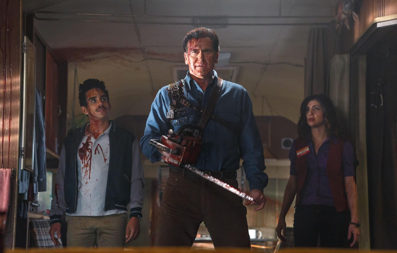 Wallpaper Blood Saw Scar Tv Series Bruce Campbell Ash