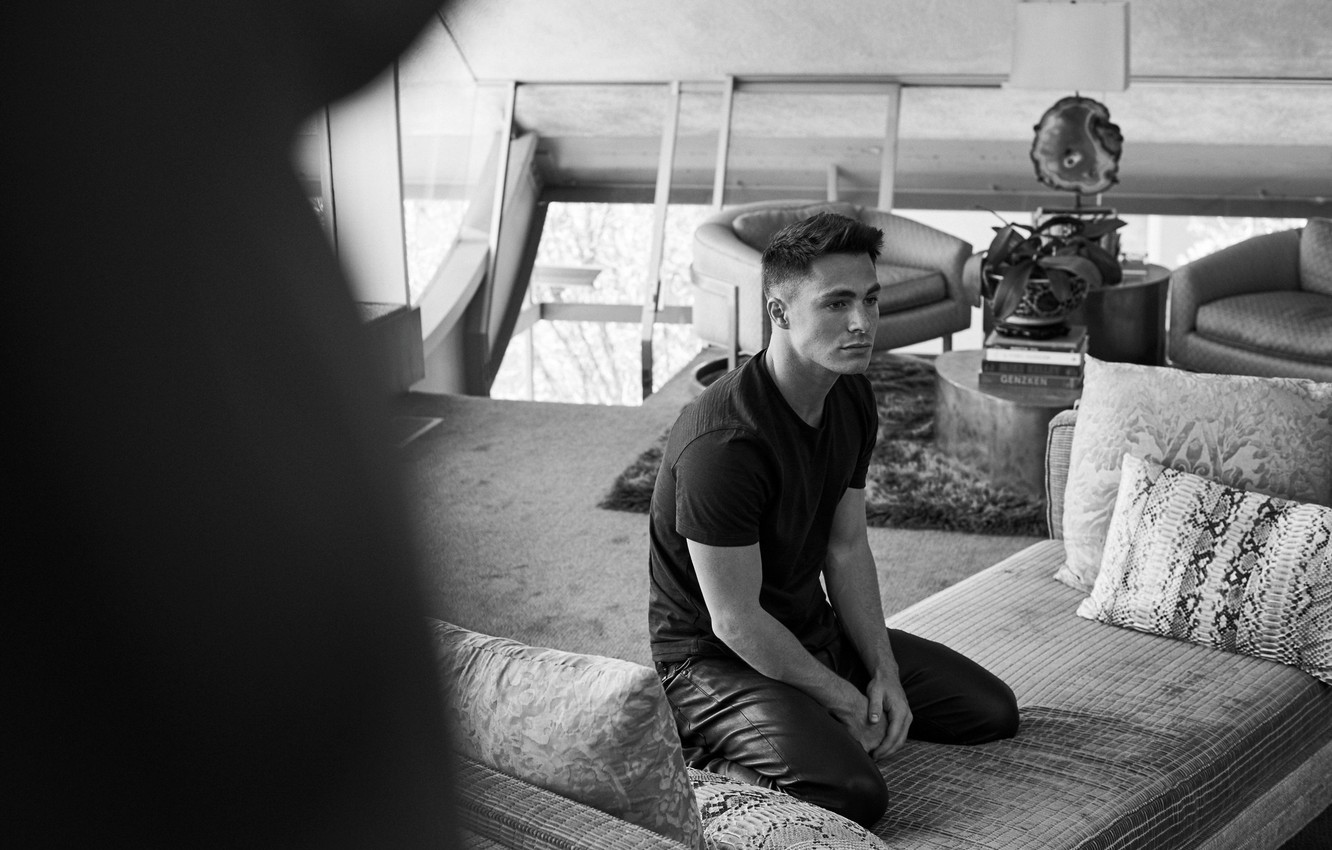 Photo wallpaper actor, black and white, male, Colton Haynes