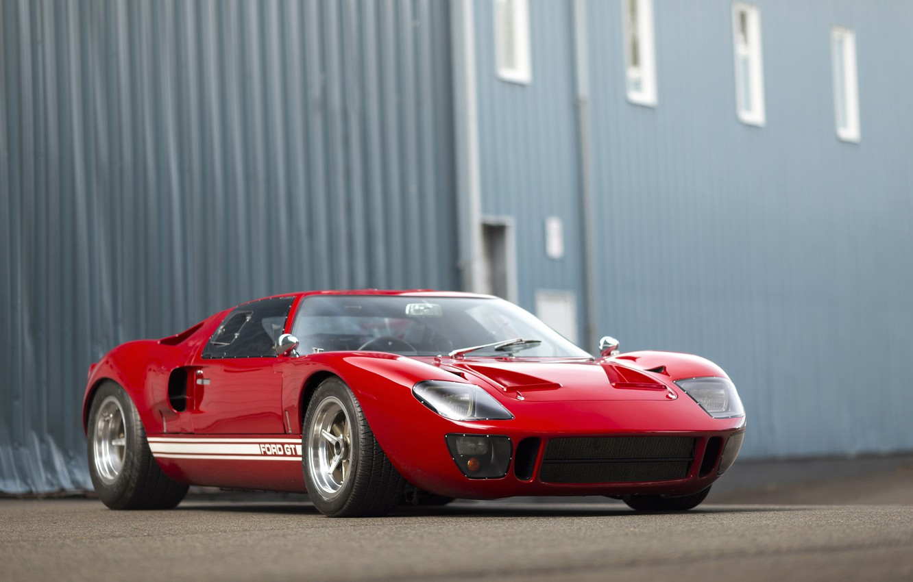 Photo wallpaper Ford, red, 1966, GT40