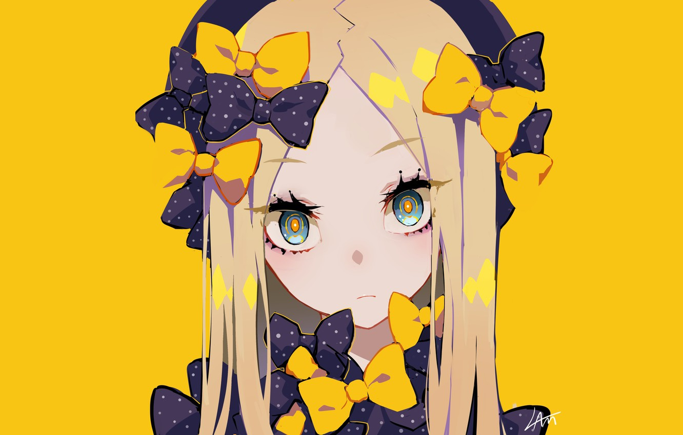 Photo Wallpaper Anime Art Girl Yellow Background Fate Grand Order The