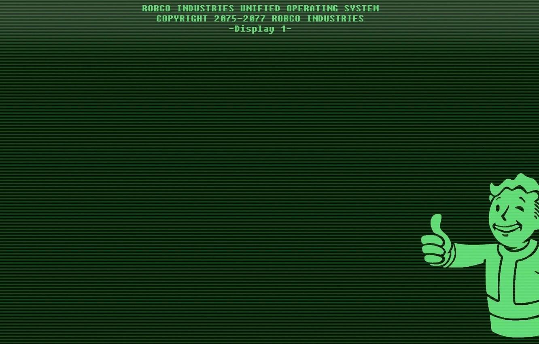 Photo wallpaper Monitor, Fallout, Bethesda Softworks, Bethesda, Display, Bethesda Game Studios, Vault Boy, Vault-Tec, Vault Boy, Bethesda, …