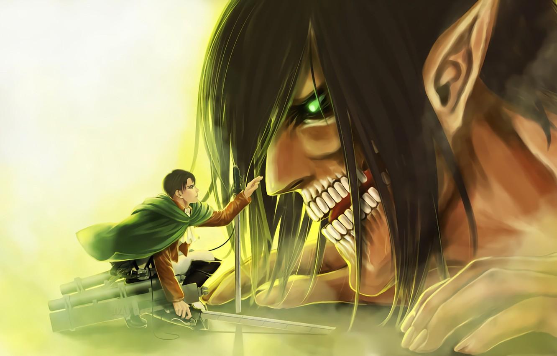 Photo wallpaper art, Titan, Shingeki no Kyojin, Eren Yeager, Attack of the titans, Levi