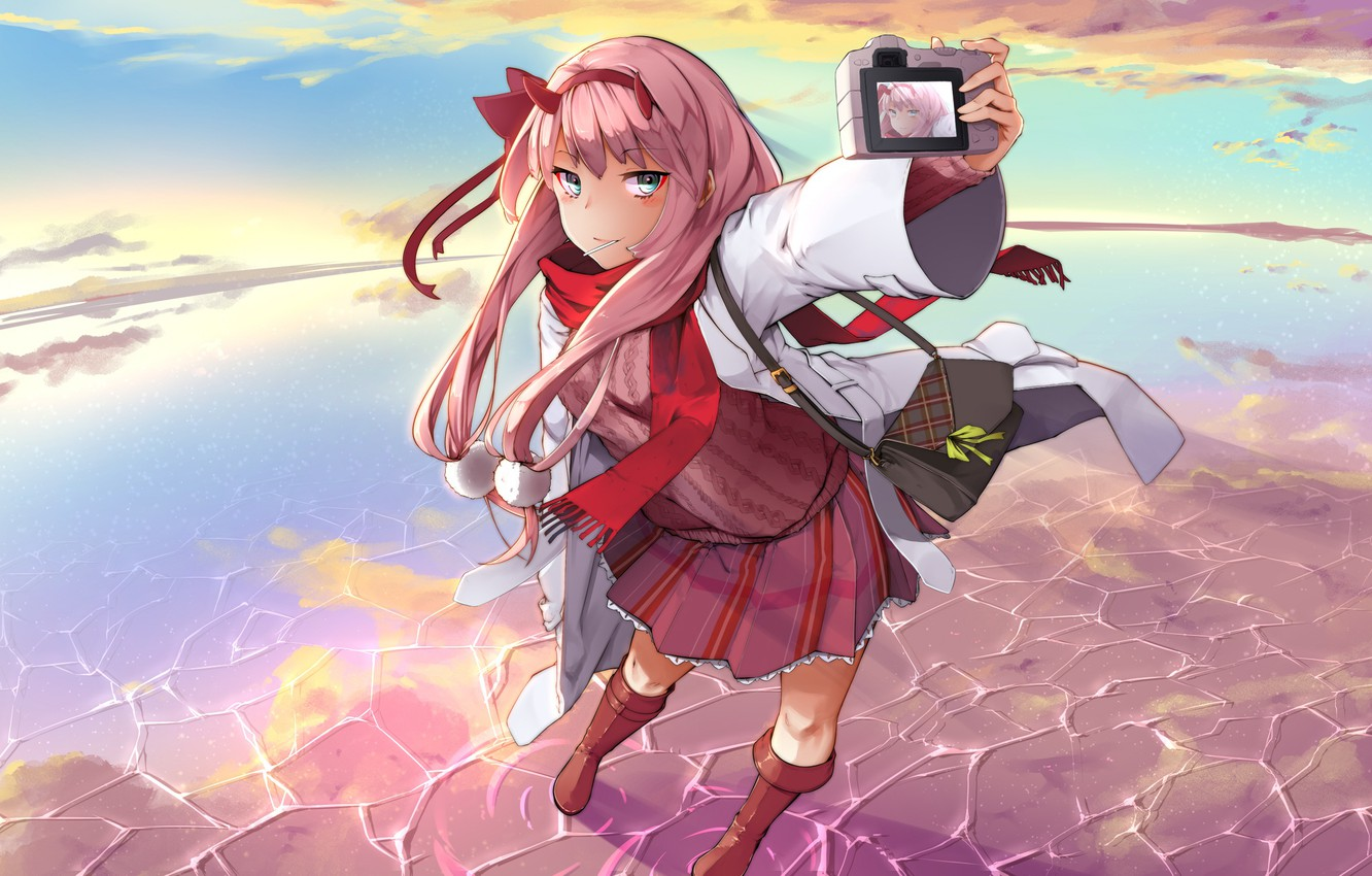 Photo wallpaper girl, anime, art, Darling In The Frankxx, Cute in France