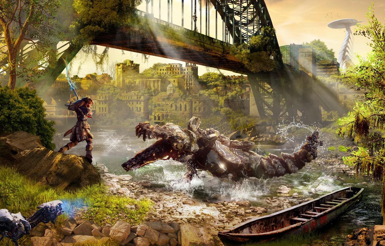 Wallpaper Sony Art Ps4 Horizon Zero Dawn Aloy Images For
