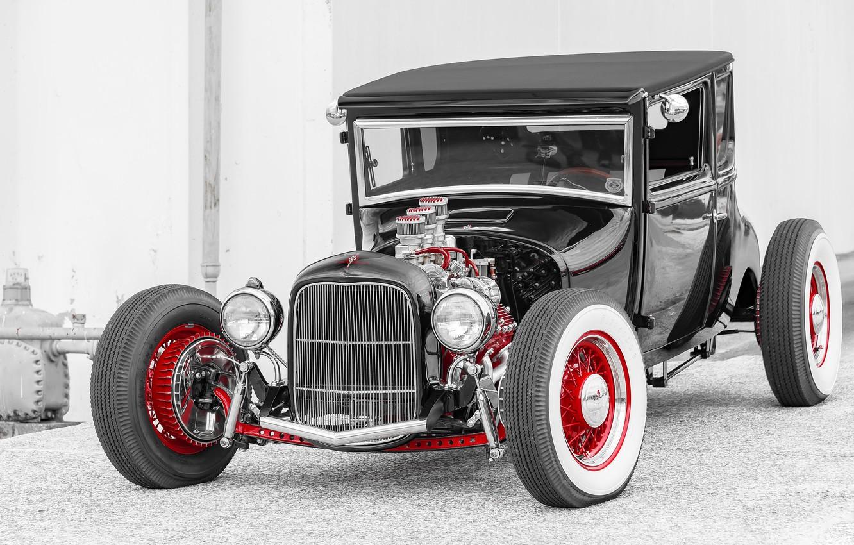 Photo wallpaper car, Hot Rod, Hot rod, classic American