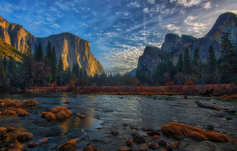 river, valley, CA, California, Yosemite