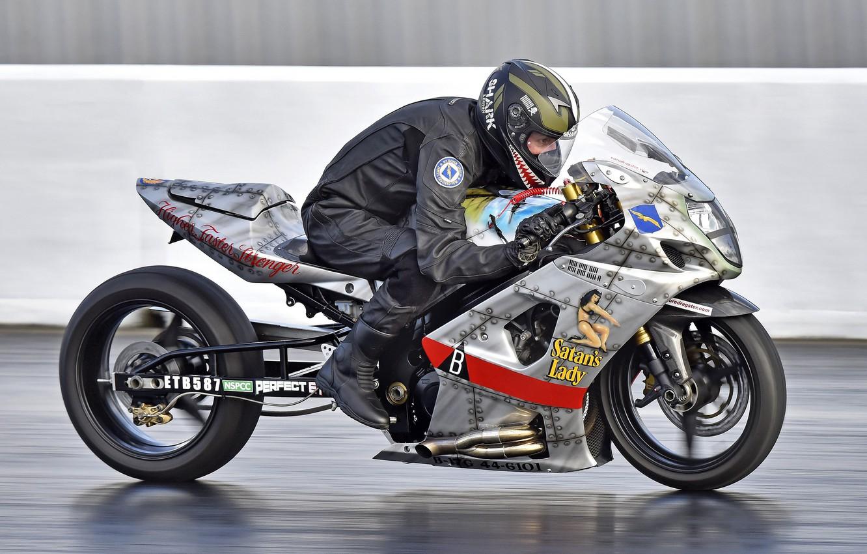 Photo wallpaper speed, bike, racer