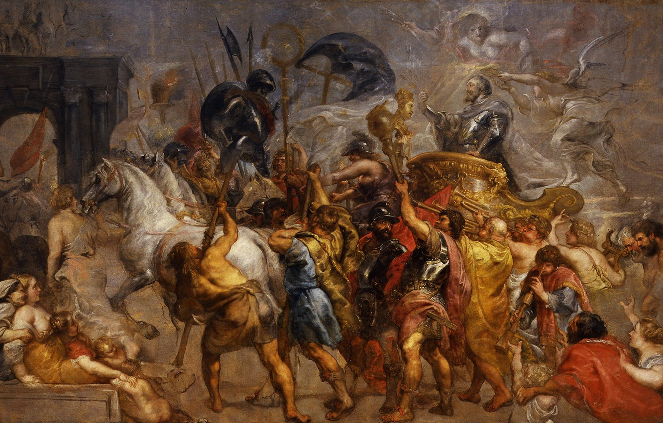 Photo wallpaper picture, history, Peter Paul Rubens, Pieter Paul Rubens, Triumphal Entry of Henry IV into Paris