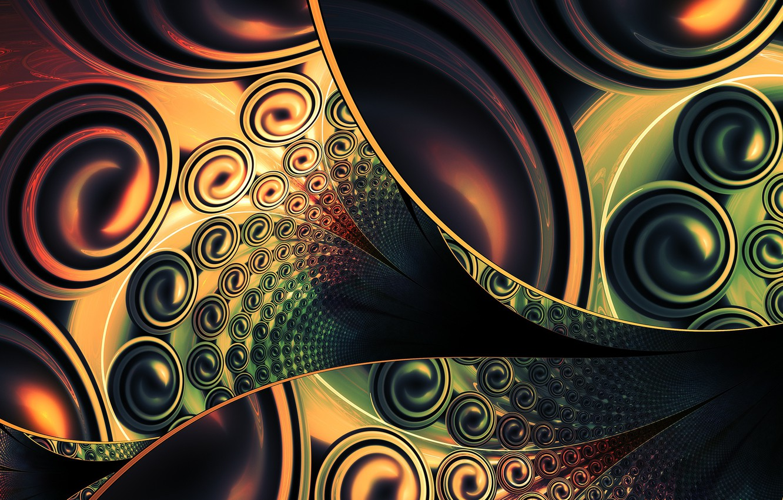 Photo wallpaper computer graphics, Green-brown, Kiara, Biancari