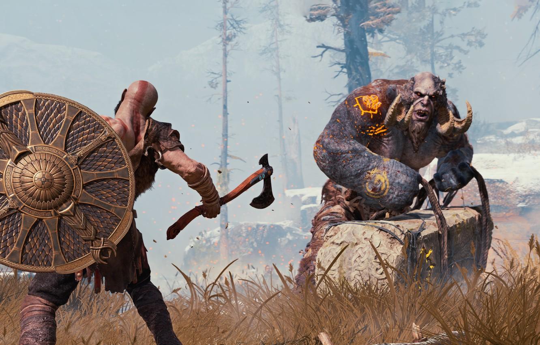 Wallpaper Sake Game Kratos God Of War Troll Viking Warrior