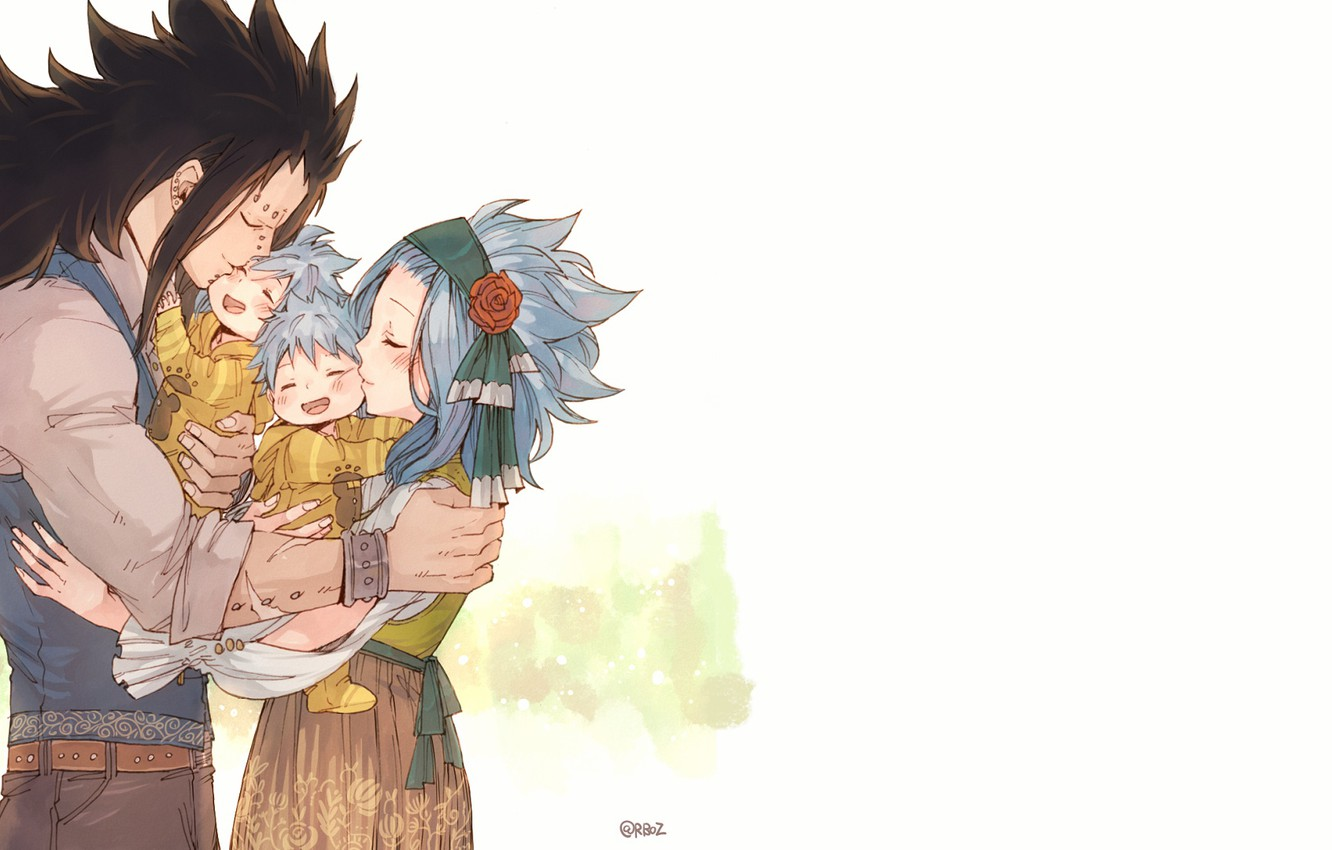 Photo wallpaper Gajeel Redfox, FAIRY TAIL, Levy McGarden