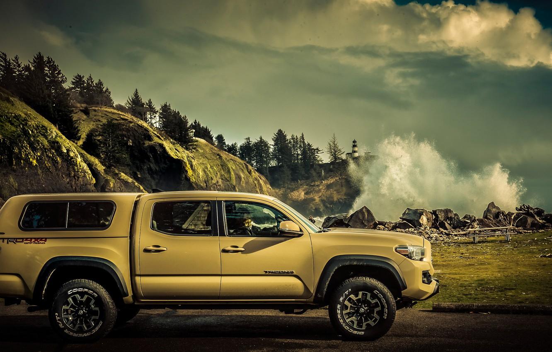 Photo wallpaper Toyota, pickup, Tacoma, Toyota Tacoma