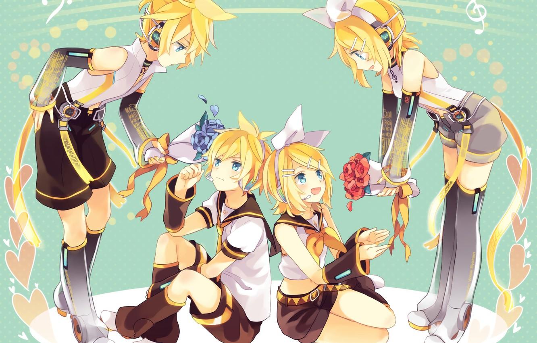Photo wallpaper anime, art, Vocaloid, Vocaloid, characters, Rin, Len