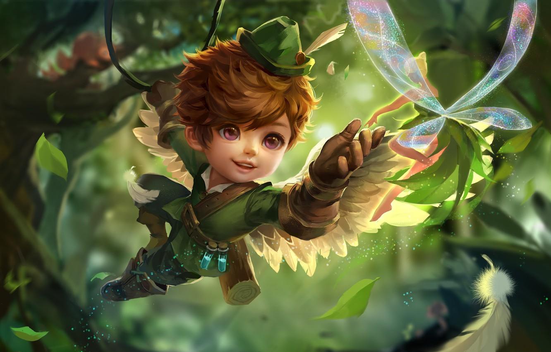 Photo wallpaper forest, children's, fake, xiong jiajie, little Cupid